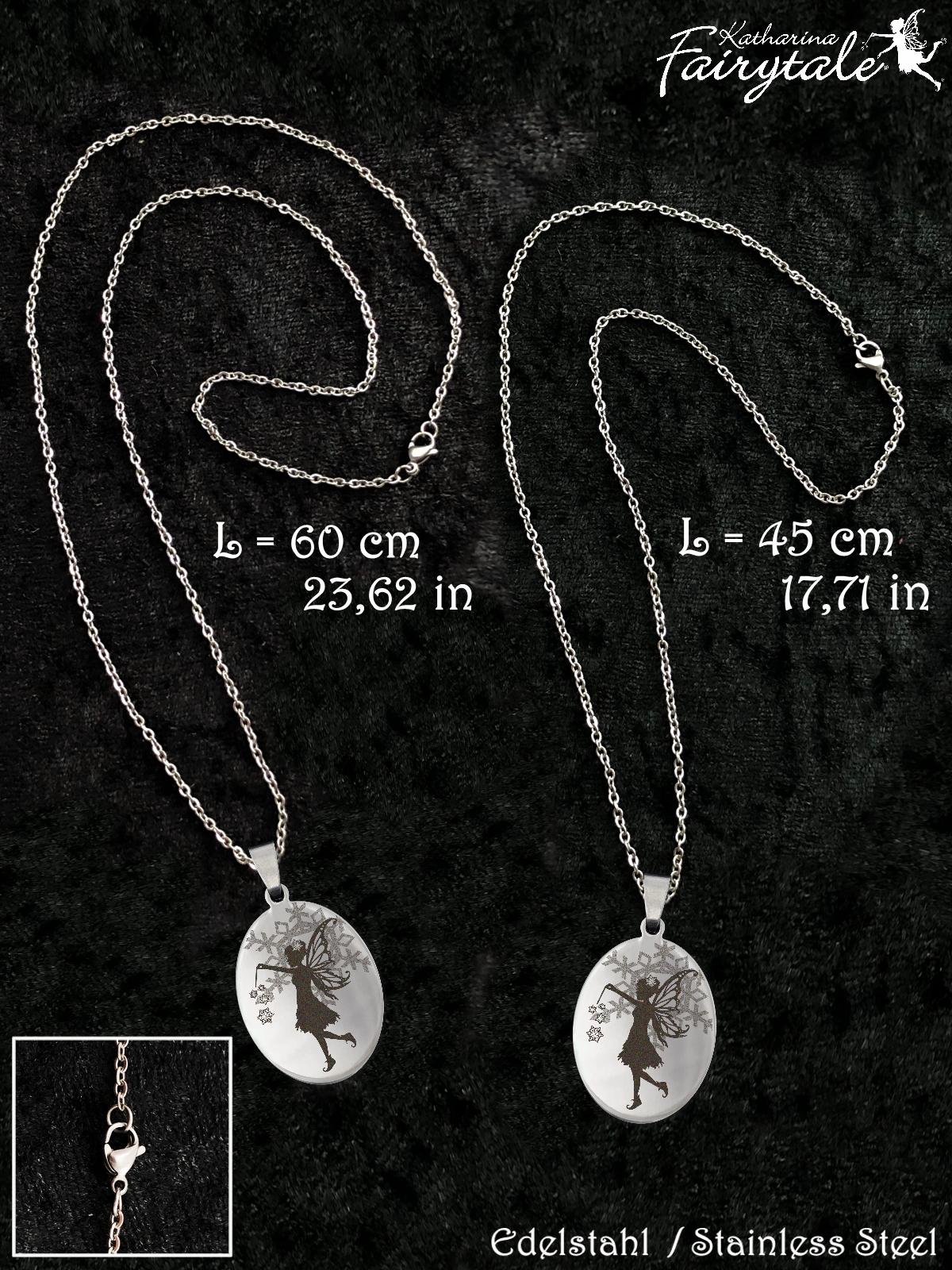gluecksbringer kette amulett der eisfee halskette f r. Black Bedroom Furniture Sets. Home Design Ideas